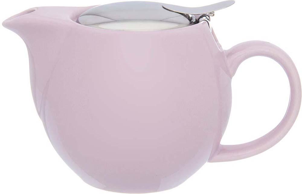 Изящный вместительный чайник объемом 500 мл с удобной ручкой и широким носиком. Изделие имеет подарочную упаковку.