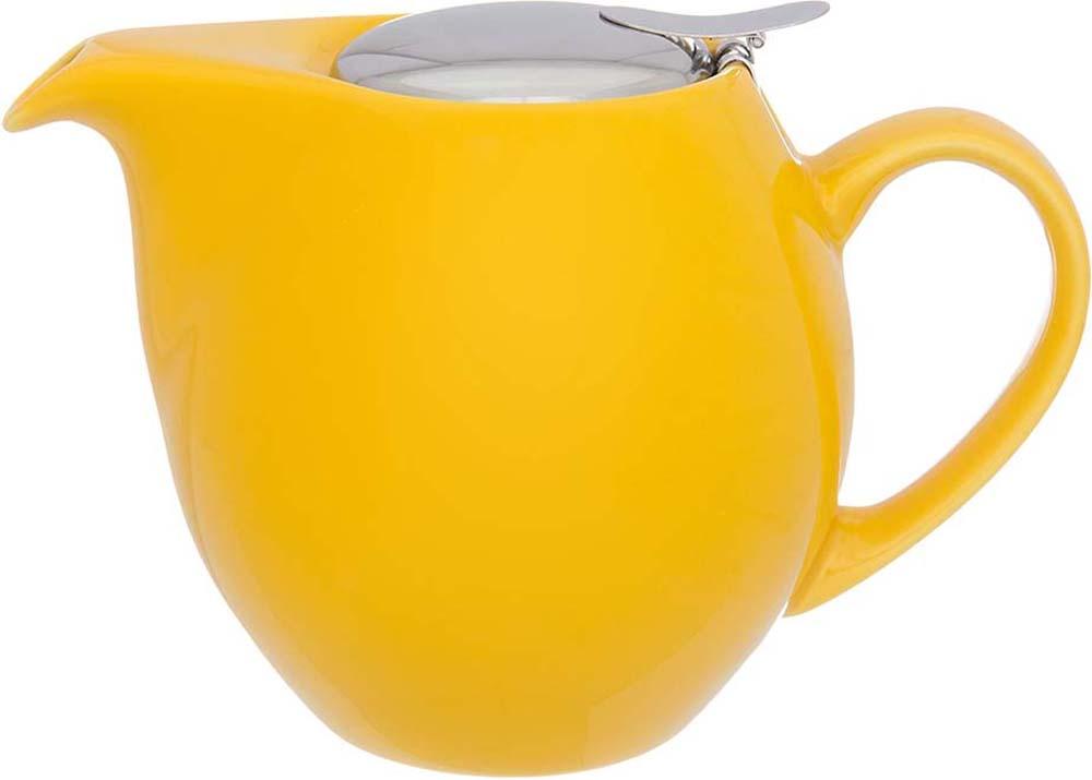 Чайник заварочный Elan Gallery, с ситом, цвет: лимонный, 900 мл630031Изящный вместительный чайник объемом 900 мл с удобной ручкой и широким носиком. Изделие имеет подарочную упаковку.