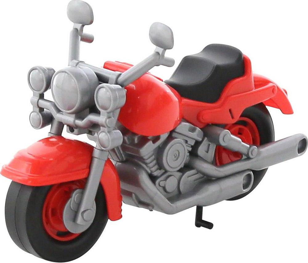Полесье Гоночный мотоцикл Кросс цвет красный серый plastic toy мотоцикл заводной гоночный