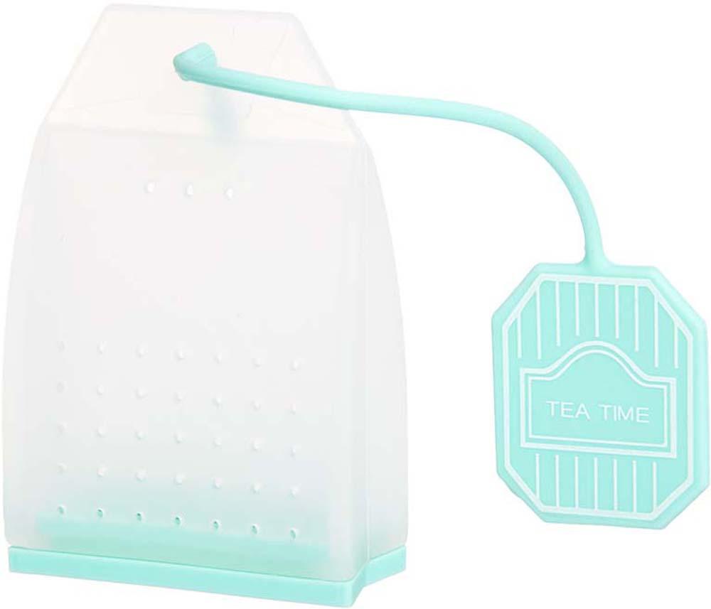 Ситечко для чая Elan Gallery Пакетик, цвет: белый, мятный, 4,5 х 6,7 х 2 см900059Сито для заваривания чая в форме чайного пакетика - прекрасная и ироничная альтернатива чайным пакетикам, ведь благодаря этой полезной вещи вы сможете наслаждаться ароматным крепким чаем без намека на чаинки в вашей кружке. Сито выполнено из 100% пищевого силикона, удобно открывается, легко моется и представлено в ярких и пастельных цветах.Также в серии силиконовых сит для чая представлены изящные бабочки, которые крепятся к стенке кружки и силиконовые совы ярких и пастельных цветов, которые послужат изящным и практичным штрихом к вашему чаепитию.