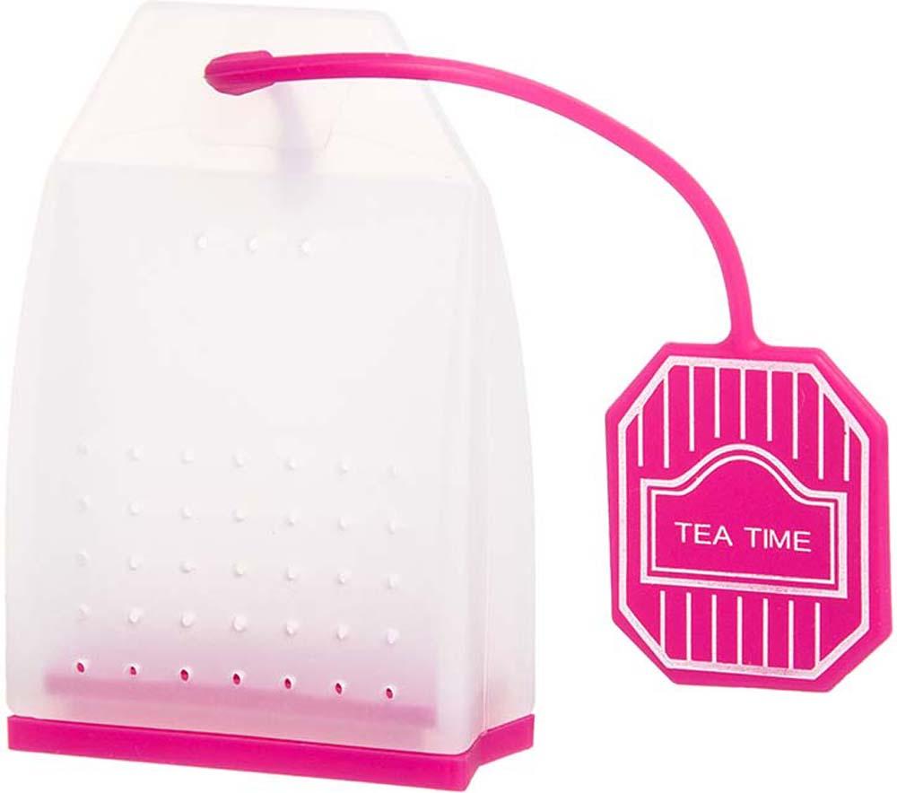 Ситечко для чая Elan Gallery Пакетик, цвет: белый, ярко-розовый, 4,5 х 6,7 х 2 см900062Сито для заваривания чая в форме чайного пакетика - прекрасная и ироничная альтернатива чайным пакетикам, ведь благодаря этой полезной вещи вы сможете наслаждаться ароматным крепким чаем без намека на чаинки в вашей кружке. Сито выполнено из 100% пищевого силикона, удобно открывается, легко моется и представлено в ярких и пастельных цветах.