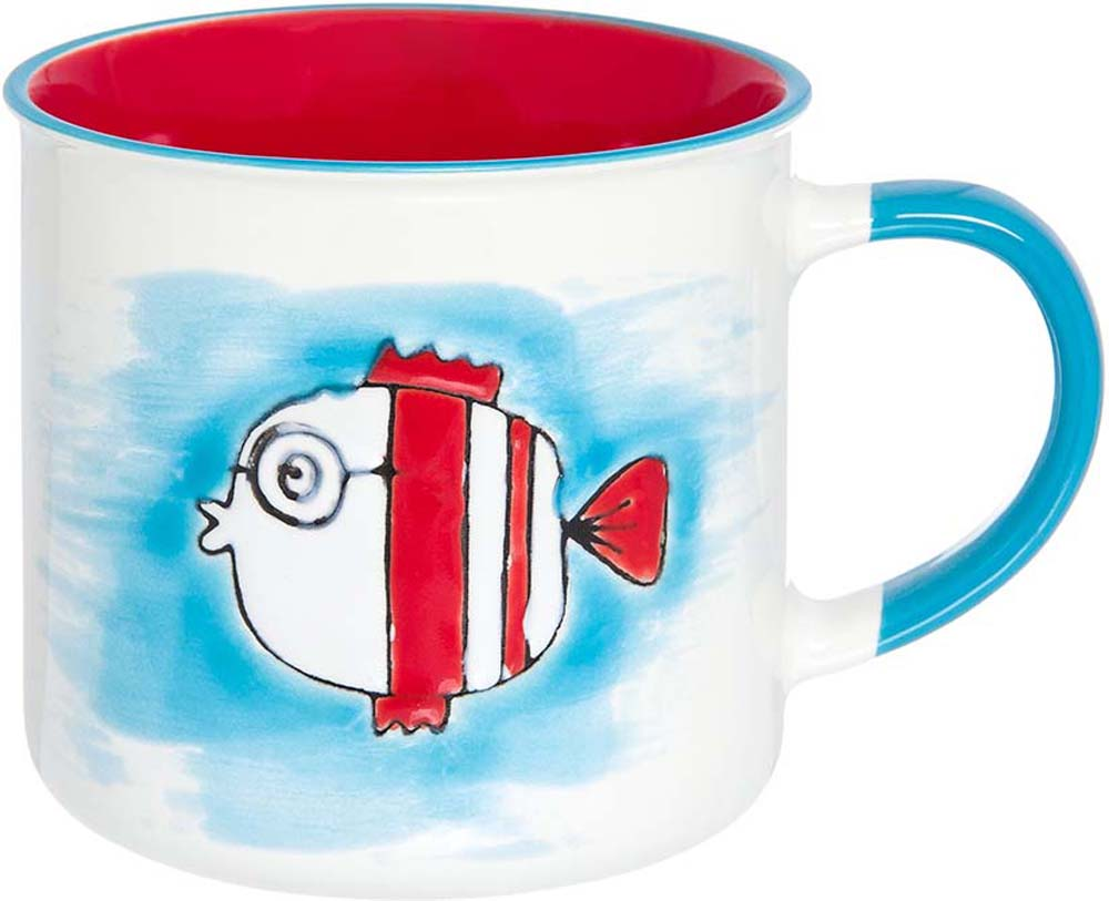"""Великолепная кружка """"Рыбка"""" не оставит равнодушным ни одного из ваших гостей и станет прекрасным выбором для подарка. Оригинальный дизайн и оформление подарят вам отличное настроение. Изделие упаковано в подарочную коробку. Объем 330 мл."""