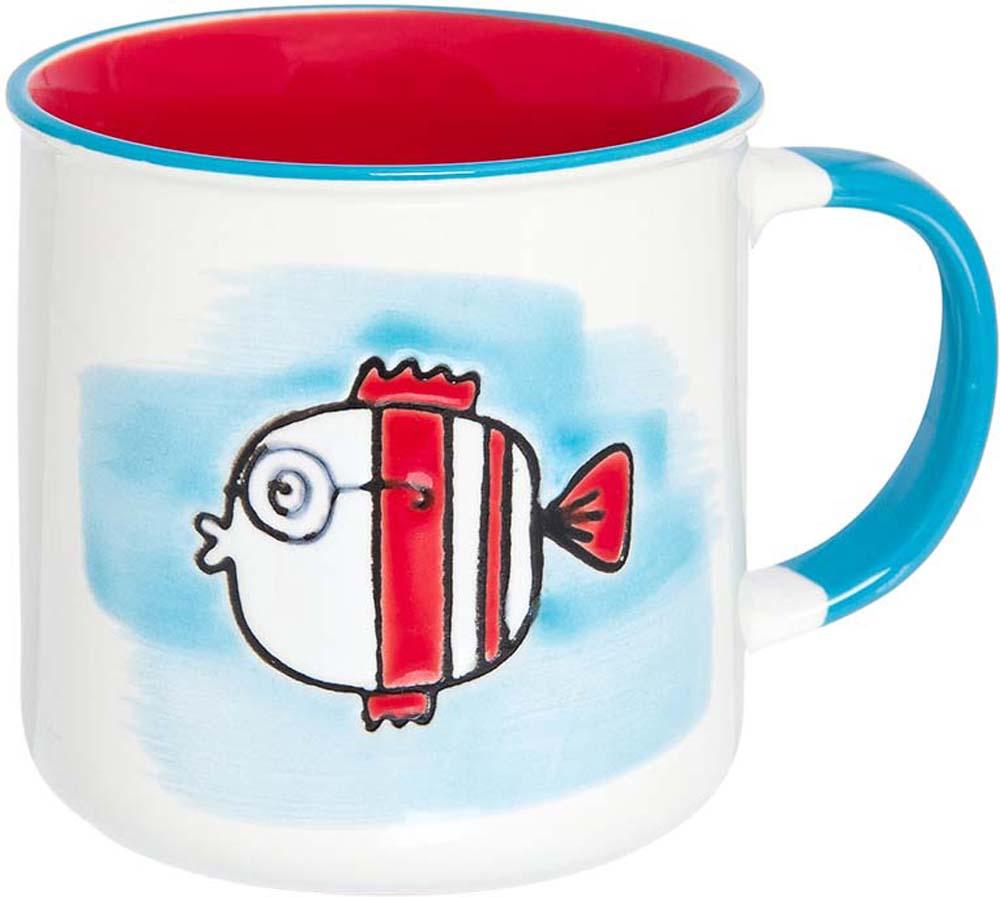"""Великолепная кружка """"Рыбка"""" не оставит равнодушным ни одного из ваших гостей и станет прекрасным выбором для подарка. Оригинальный дизайн и оформление подарят вам отличное настроение. Изделие упаковано в подарочную коробку. Объем 250 мл."""