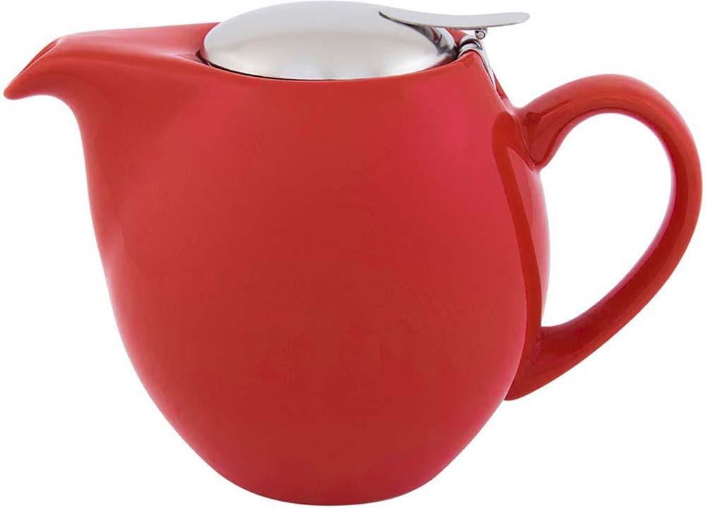 Чайник заварочный Elan Gallery, с крышкой и ситом, цвет: красный, 850 мл630010Посуда из керамики - это украшение стола и отличный подарок. Красота и уют вашего дома! Дизайн чайников проработан учитывая все подробности. Все части аккуратно скомбинированы и хорошо дополняют друг друга. Эта модель станет замечательной находкой для себя или презентом родным. Размер чайника: 18,5 х 11,5 х 13 см.Объем чайника: 850 мл.