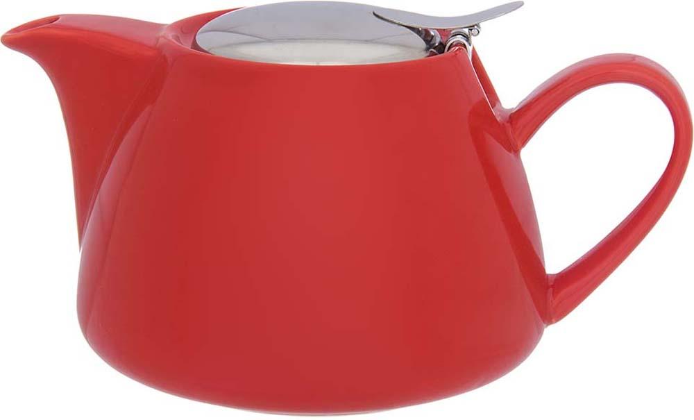 Чайник заварочный Elan Gallery, с ситом, цвет: красный, 750 мл