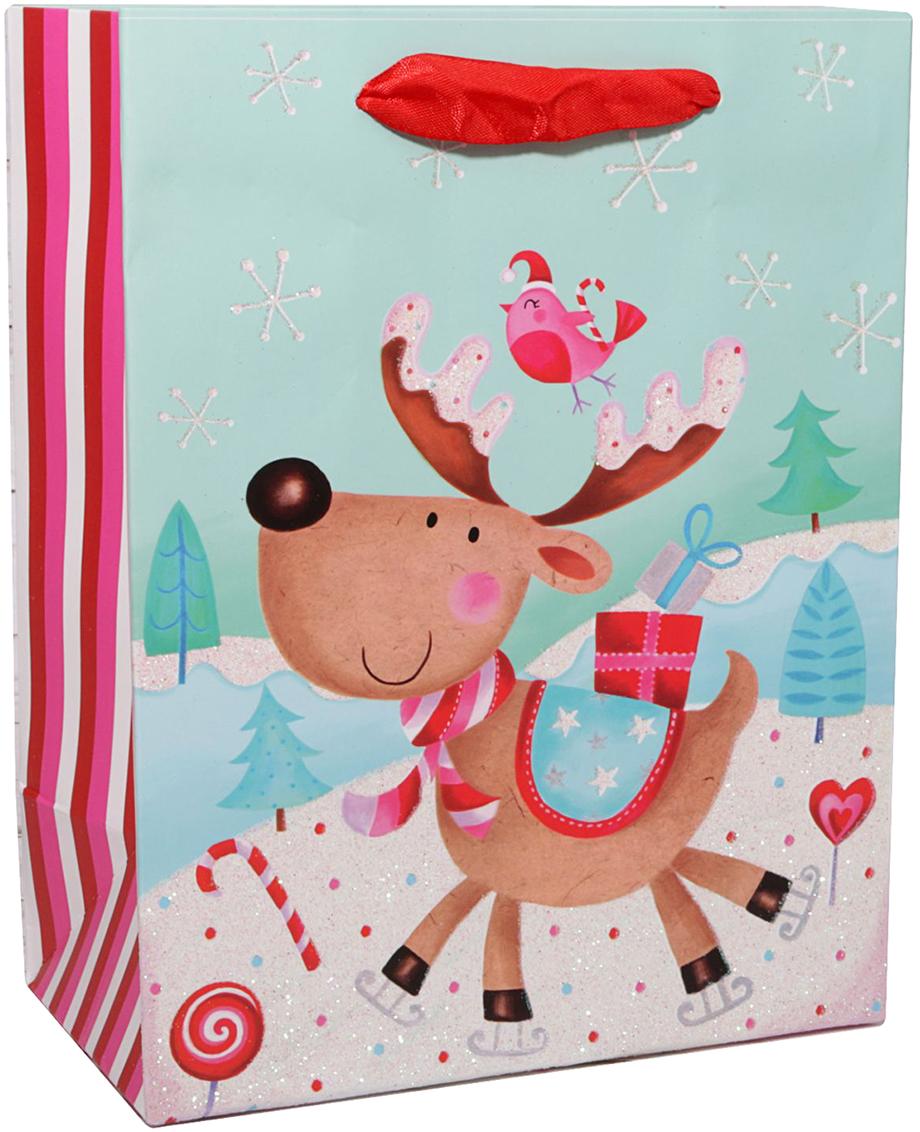 Пакет подарочный Зимний лес, цвет: мультиколор, 32 х 26 х 11 см. 24783102478310Любой подарок начинается с упаковки. Что может быть трогательнее и волшебнее, чем ритуал разворачивания полученного презента. И именно оригинальная, со вкусом выбранная упаковка выделит ваш подарок из массы других. Она продемонстрирует самые теплые чувства к виновнику торжества и создаст сказочную атмосферу праздника. Пакет подарочный Зимний лес - это то, что вы искали.