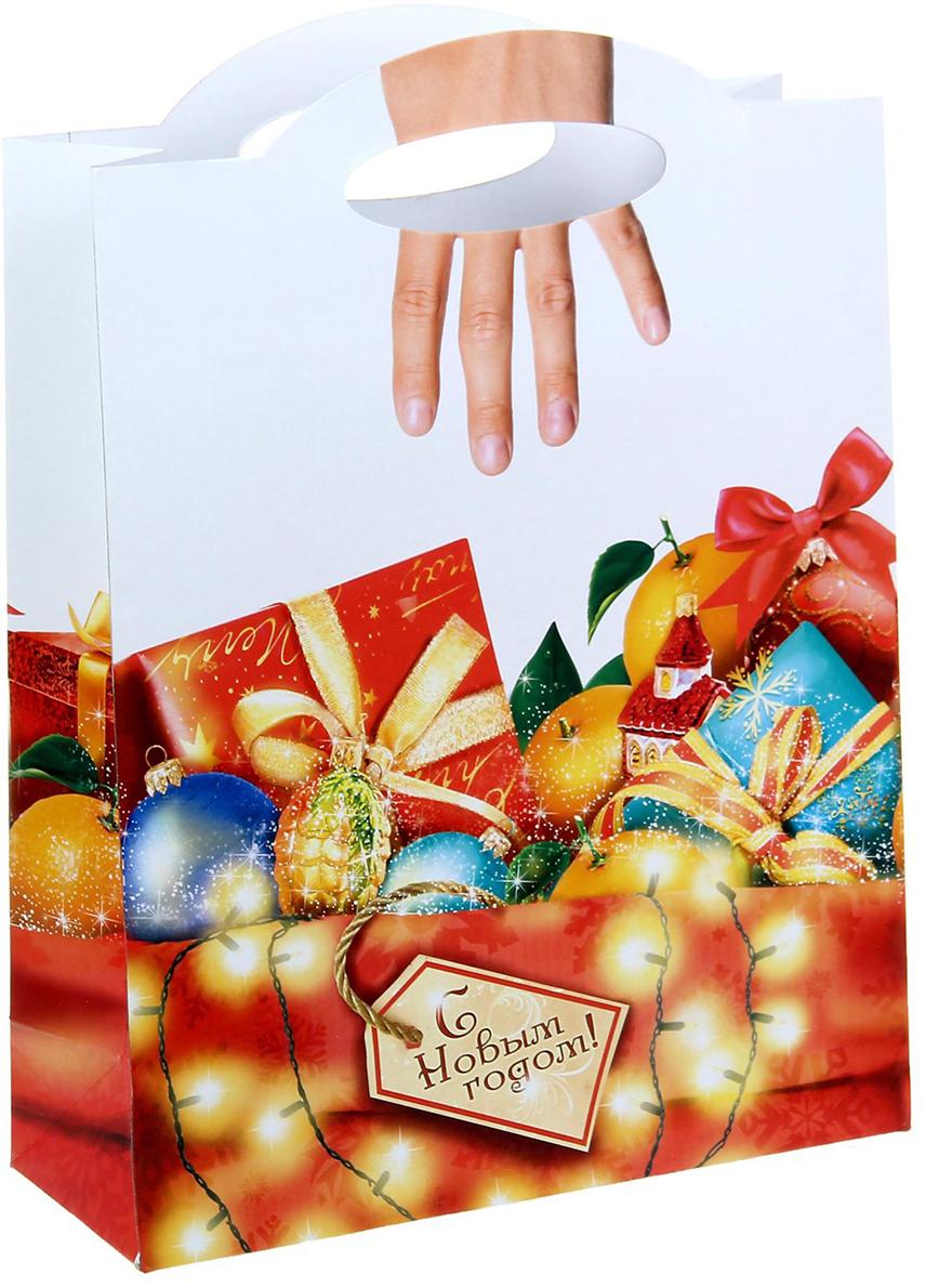 Пакет подарочный Дарите Счастье Подарки, цвет: мультиколор, 26 х 10 х 35 см. 10480921048092Не пропустите ограниченную серию подарочных пакетов с креативным оформлением ручками!Упаковка сделана из плотного картона 210 г/м2 с вырубной ручкой, которая продолжает основной рисунок. Пакет создан дизайнерами, вдохновленными мировыми выставками по самой оригинальной подарочной упаковке. Удивляйте не только подарком, но и его оформлением!