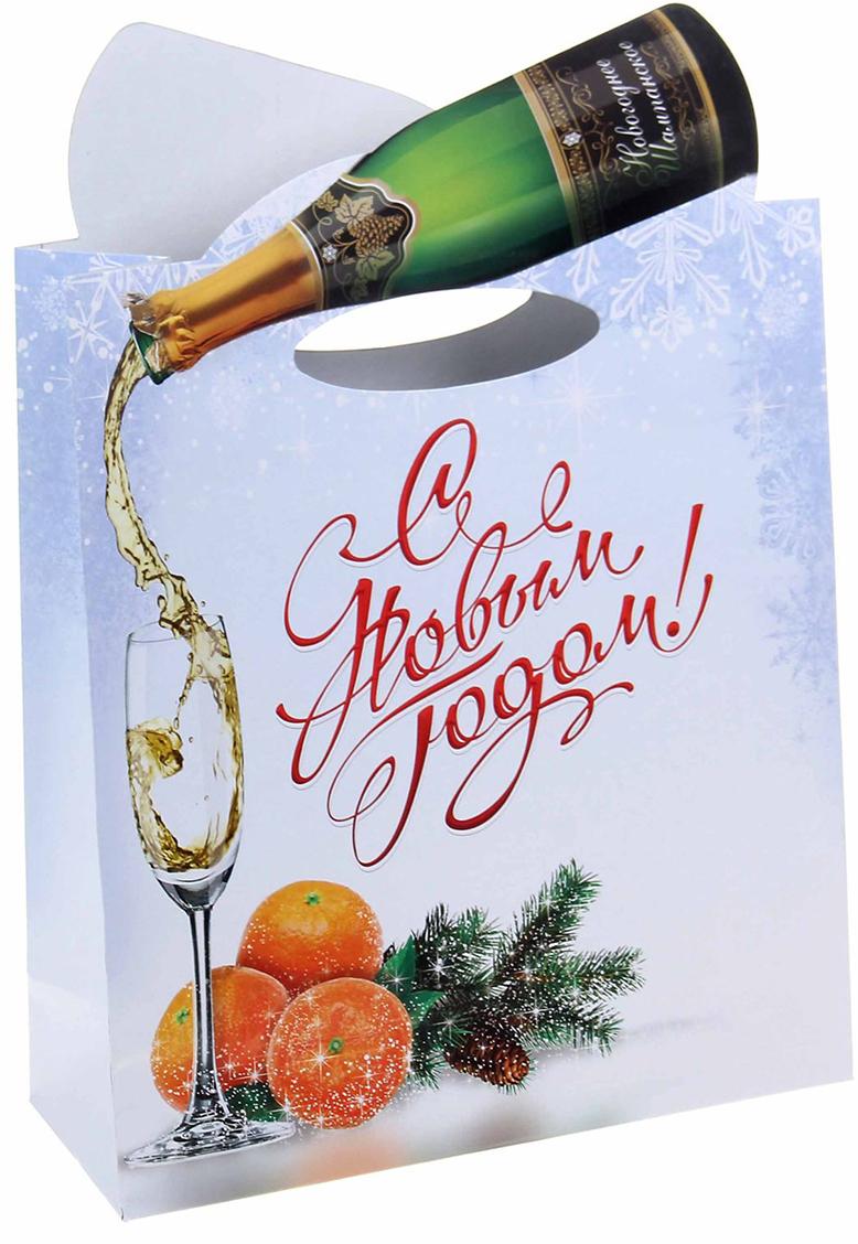 Пакет подарочный Дарите Счастье Шампанское, цвет: мультиколор, 26 х 10 х 38 см. 10480951048095Не пропустите ограниченную серию подарочных пакетов с креативным оформлением ручками!Упаковка сделана из плотного картона 210 г/м2 с вырубной ручкой, которая продолжает основной рисунок. Пакет создан дизайнерами, вдохновленными мировыми выставками по самой оригинальной подарочной упаковке. Удивляйте не только подарком, но и его оформлением!