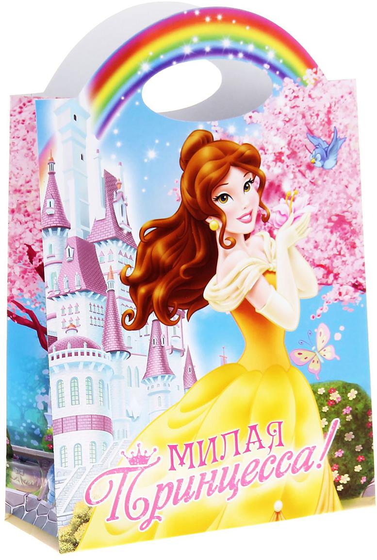 Пакет подарочный Disney Принцесса. Белль. Милая принцесса, цвет: мультиколор, 26 х 10 х 36 см. 11253691125369Подарок начинается с упаковки. Важно, чтобы с первого взгляда на нее, ребенок пришел в неописуемый восторг и навсегда запомнил этот момент счастья, который подарили ему вы и его любимые герои. Этот пакет сделает ваш презент особенным. Он подарит частичку волшебства и надежно укроет драгоценное содержимое. Дизайнеры специально подобрали эффектные элементы, чтобы рисунок был на ручках пакета. Дарите своим детям незабываемые минуты радости с уникальными товарами!