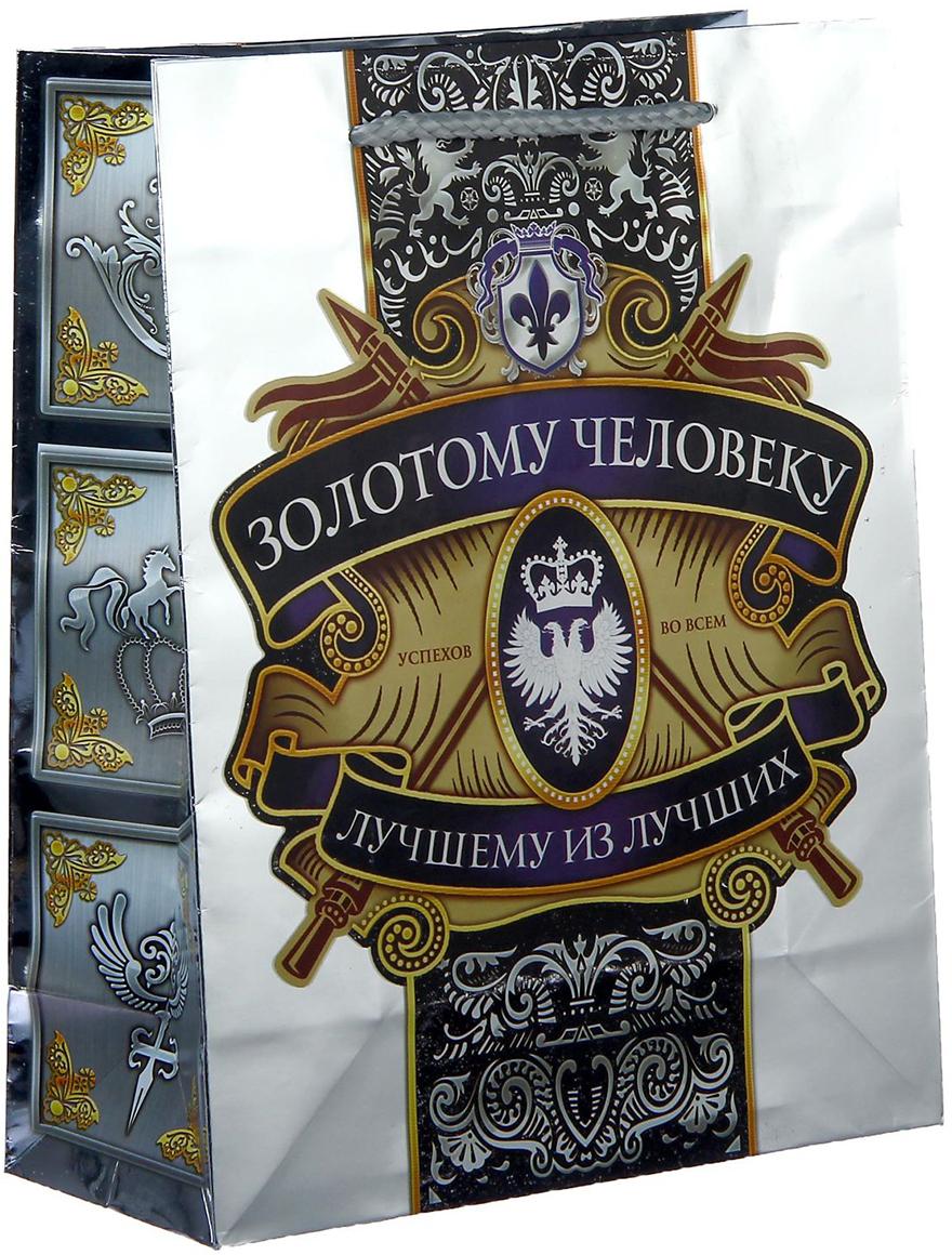 Пакет подарочный Дарите Счастье Золотому человеку, цвет: мультиколор, 18 х 23 см. 11489911148991Ламинированные бумажные пакеты - лидеры по популярности среди подарочной упаковки. Для этого есть несколько причин:Красота - ламинированные пакеты выглядят ярко и эффектно. Прочность - он способен выдержать до 10 кг. Надежность - благодаря качественной печати рисунок не сотрется и не выгорит. Широкий выбор ламинированных пакетов позволит найти упаковку для подарка для любого повода.