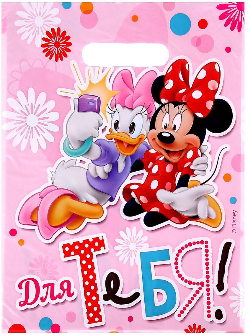 Пакет подарочный Disney Минни и Дейзи. Для тебя!, цвет: мультиколор, 22,3 x 29,2 см. 12212001221200Любой подарок начинается с упаковки. Что может быть трогательнее и волшебнее, чем ритуал разворачивания полученного презента. И именно оригинальная, со вкусом выбранная упаковка выделит ваш подарок из массы других. Она продемонстрирует самые теплые чувства к виновнику торжества и создаст сказочную атмосферу праздника.