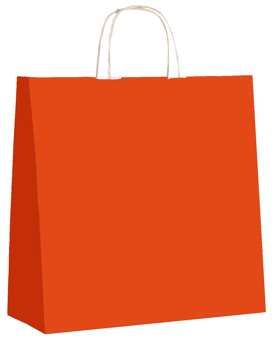 Пакет подарочный Радуга, цвет: оранжевый, 32 х 12 х 32 см. 12477911247791Крафт-пакет влагоустойчив, с хорошей воздухопроницаемостью, отменно переносит высокую температуру и может использоваться не один раз. Имеет крепкое дно и крученые ручки. Изготовлен из крафт-бумаги – экологически чистого материала. Практичность в использовании и разумная стоимость – все это характеризует удобную и абсолютно безопасную в применении упаковку. Материал очень податлив, а работать с ним одно удовольствие: можно нанести любой рисунок, рекламу, поиграть с расцветкой или сделать яркий принт. Фирмы, упаковывающие свою продукцию таким образом, демонстрируют осведомленность в вопросах экологии, качестве выпускаемых изделий и заботу о ее потребителях.