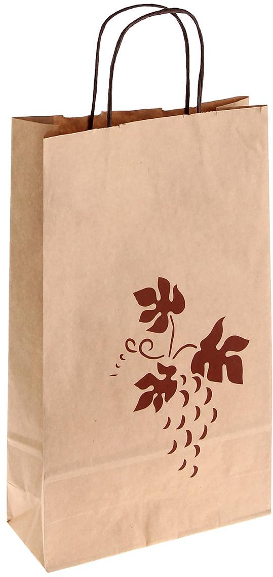 Пакет подарочный Лоза, цвет: бурый, 41 х 25 х 10 см. 12477961247796Крафт-пакет из натуральной бумаги отличается высокой воздухопроницаемостью, имеет крепкое дно и крученые ручки. Также он свободно выдерживает относительно большой вес до 10 кг, демонстрируя отличные показатели прочности, и не рвется острыми углами подарочной коробки. Практичность в использовании и разумная стоимость - все это характеризует удобную и абсолютно безопасную в применении упаковку. Модный сдержанный принт подойдет и для дорогой покупки из бутика, и для повседневных бытовых целей. Фирмы, упаковывающие свою продукцию таким образом, демонстрируют осведомленность в вопросах экологии, качестве выпускаемых изделий и заботы о ее потребителях.