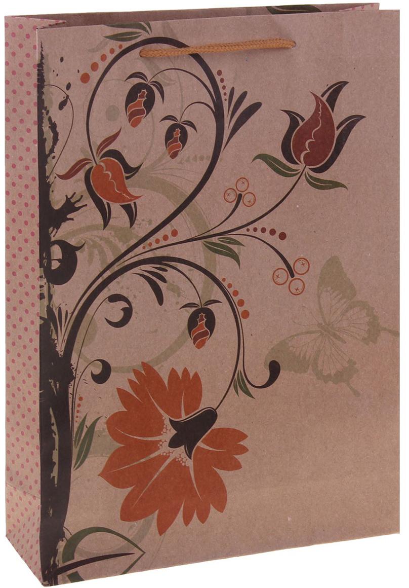 Пакет подарочный Рисунок, цвет: мультиколор, 15 х 6 х 20 см. 1255079 пакет подарочный рисунок цвет мультиколор 11 х 6 х 14 см 1258394