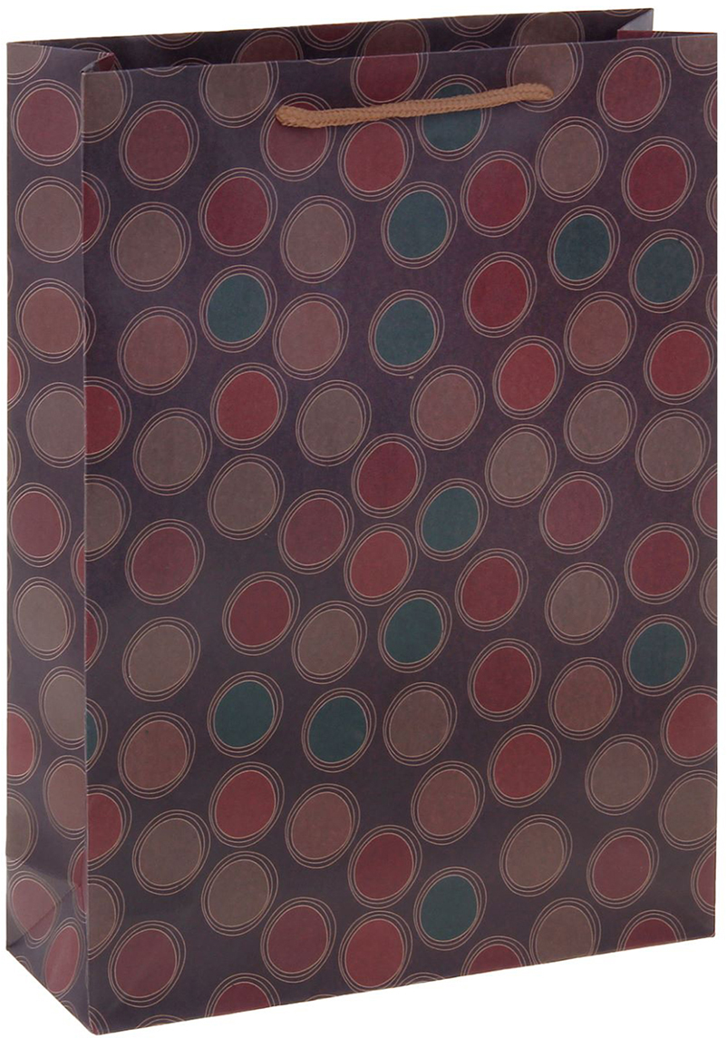 Пакет подарочный Круги, цвет: фиолетовый, 19 х 8 х 24,5 см. 12551021255102Любой подарок начинается с упаковки. Что может быть трогательнее и волшебнее, чем ритуал разворачивания полученного презента. И именно оригинальная, со вкусом выбранная упаковка выделит ваш подарок из массы других. Она продемонстрирует самые теплые чувства к виновнику торжества и создаст сказочную атмосферу праздника. Пакет-крафт Круги - это то, что вы искали.