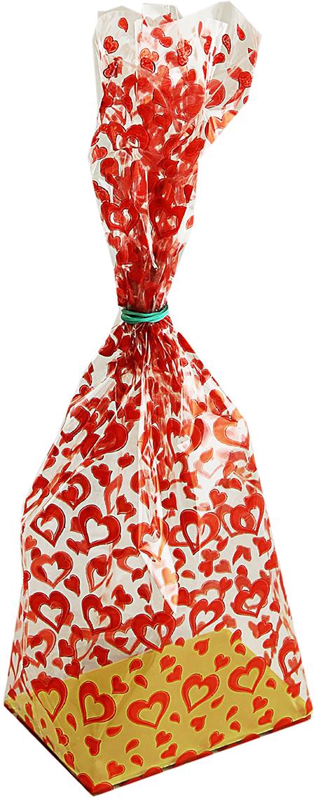 Пакет подарочный Сердечки, цвет: красный, 7 х 11 х 40 см. 13461241346124Желаете сэкономить, но при этом красиво оформить свои презенты? Набор подарочных пакетов позволит легко и быстро упаковать сразу несколько подарков. В таком изделии хорошо смотрятся и машинка для мальчика, и куколка для девочки, и парфюм для женщины, и бумажник для мужчины, перечислять можно бесконечно. Изделие имеет жесткое дно и плотную форму с вместительными габаритами.