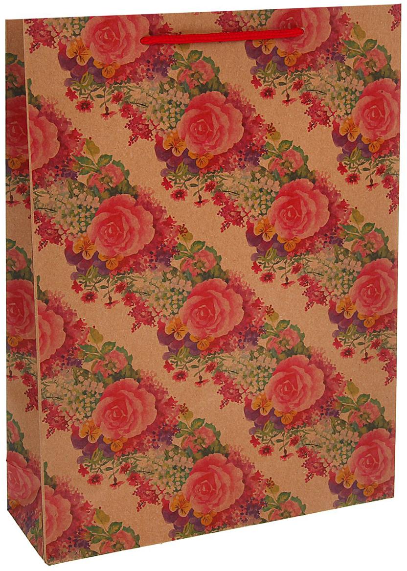 Пакет подарочный Розы, цвет: красный, 19 х 8 х 24,5 см. 13988921398892Любой подарок начинается с упаковки. Что может быть трогательнее и волшебнее, чем ритуал разворачивания полученного презента. И именно оригинальная, со вкусом выбранная упаковка выделит ваш подарок из массы других. Она продемонстрирует самые теплые чувства к виновнику торжества и создаст сказочную атмосферу праздника - это то, что вы искали.