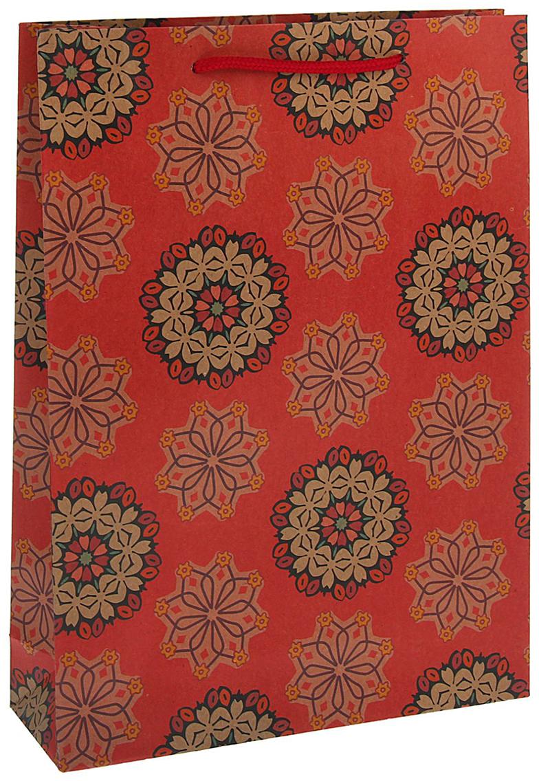 Пакет подарочный Рисунок, цвет: красный, 23 х 32 х 8,5 см. 13988971398897Любой подарок начинается с упаковки. Что может быть трогательнее и волшебнее, чем ритуал разворачивания полученного презента. И именно оригинальная, со вкусом выбранная упаковка выделит ваш подарок из массы других. Она продемонстрирует самые теплые чувства к виновнику торжества и создаст сказочную атмосферу праздника - это то, что вы искали.
