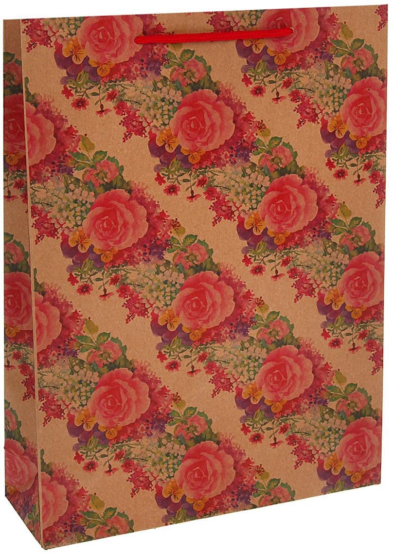 Пакет подарочный Розы, цвет: красный, 31,5 х 9,5 х 42 см. 13989101398910Любой подарок начинается с упаковки. Что может быть трогательнее и волшебнее, чем ритуал разворачивания полученного презента. И именно оригинальная, со вкусом выбранная упаковка выделит ваш подарок из массы других. Она продемонстрирует самые теплые чувства к виновнику торжества и создаст сказочную атмосферу праздника - это то, что вы искали.