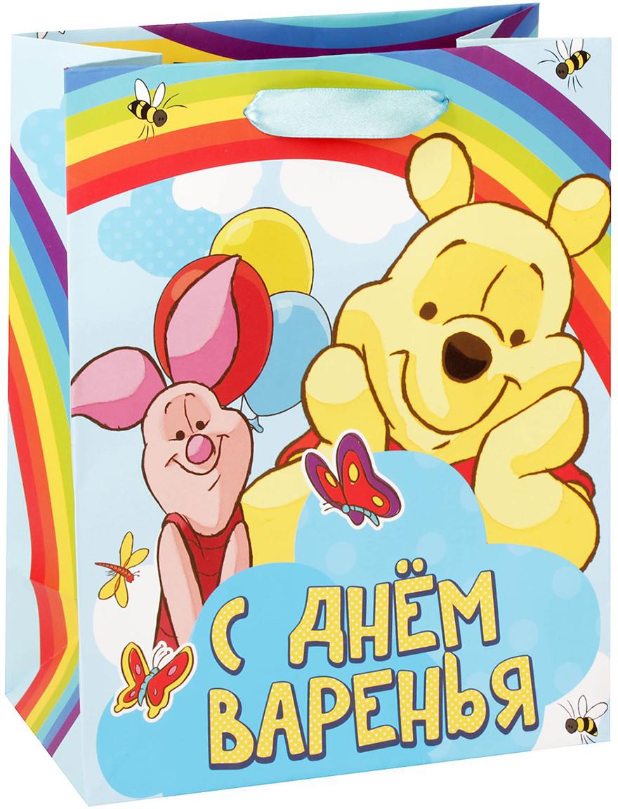 Пакет подарочный Disney Медвежонок Винни и его друзья. С Днем Варения, цвет: мультиколор, 18 х 23 х 10 см. 1433318 кукла maria sin rd332