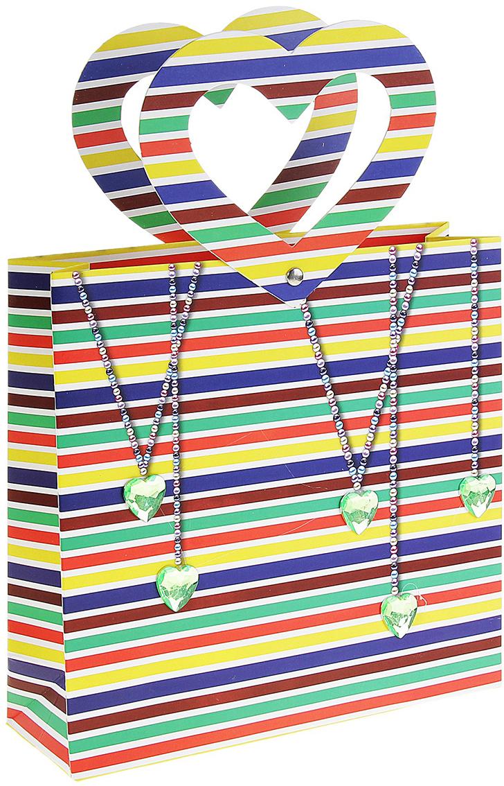 Пакет подарочный Сердечки, цвет: мультиколор, 7 х 22 х 21 см. 147197147197Внимание всем любителям стильной подарочной упаковки, вы только посмотрите на огромный раздел, который вобрал в себя все самое лучшее из мира оформления подарков. При формировании ассортимента специалисты нашей компании не упускают ни одной важной детали, закупая только самый востребованный товар, который не залеживается на складе. А если вы приобретаете для личного пользования подарочную упаковку, то она будет радовать вас своим ярким дизайном и универсальностью в использовании. Например, Пакет ламинированный Сердечки яркий представитель в своей категории. Идеальный размер, цвет, форма выгодно подчеркнут красоту подарка.