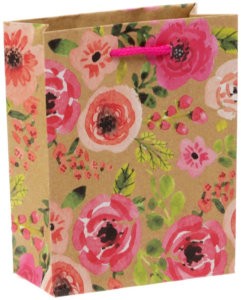 Пакет подарочный Дарите Счастье Акварельные цветы, цвет: мультиколор, 12 х 6 х 15 см. 14994951499495Любой подарок начинается с упаковки. Что может быть трогательнее и волшебнее, чем ритуал разворачивания полученного презента. И именно оригинальная, со вкусом выбранная упаковка выделит ваш подарок из массы других. Она продемонстрирует самые теплые чувства к виновнику торжества и создаст сказочную атмосферу праздника - это то, что вы искали.