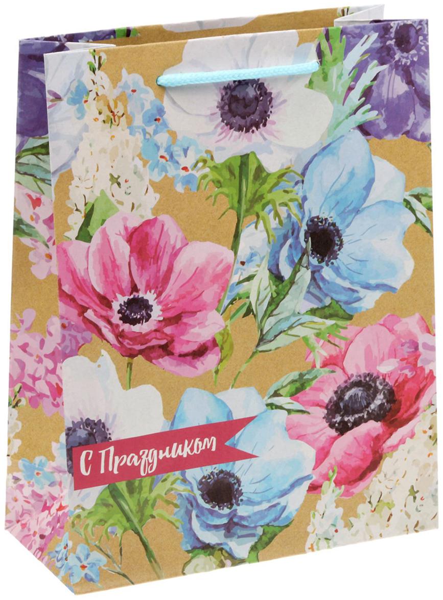 Пакет подарочный Дарите Счастье Летние цветы, 18 х 8 х 23 см1499514Любой подарок начинается с упаковки. Что может быть трогательнее и волшебнее, чем ритуал разворачивания полученного презента. И именно оригинальная, со вкусом выбранная упаковка выделит ваш подарок из массы других. Она продемонстрирует самые теплые чувства к виновнику торжества и создаст сказочную атмосферу праздника. Пакет подарочный Дарите Счастье Летние цветы - это то, что вы искали.