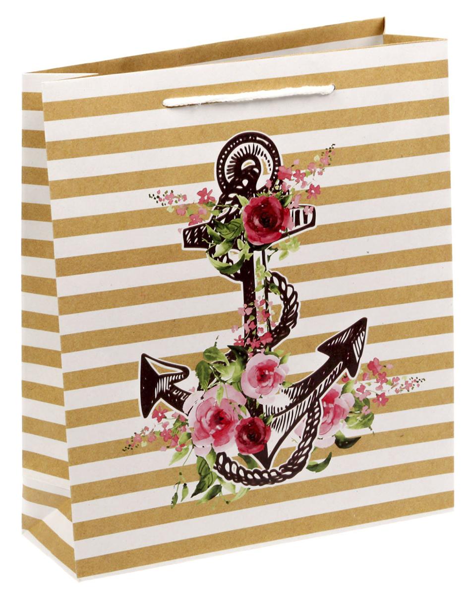 Пакет подарочный Дарите Счастье Поздравляю!, цвет: мультиколор, 23 х 8 х 27 см. 14995181499518Любой подарок начинается с упаковки. Что может быть трогательнее и волшебнее, чем ритуал разворачивания полученного презента. И именно оригинальная, со вкусом выбранная упаковка выделит ваш подарок из массы других. Она продемонстрирует самые теплые чувства к виновнику торжества и создаст сказочную атмосферу праздника - это то, что вы искали.