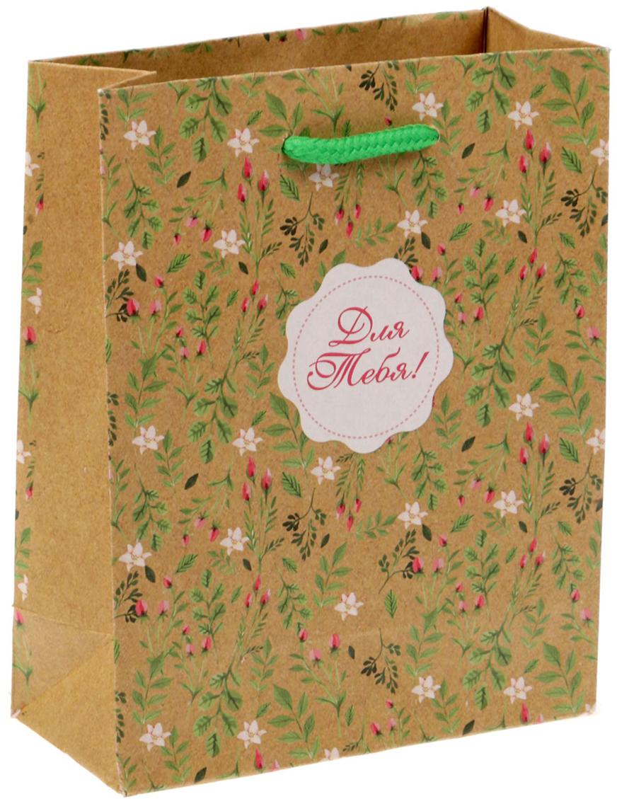 Пакет подарочный Дарите Счастье Цветочный, цвет: бежевый, 12 х 6 х 15 см. 14995221499522Любой подарок начинается с упаковки. Что может быть трогательнее и волшебнее, чем ритуал разворачивания полученного презента. И именно оригинальная, со вкусом выбранная упаковка выделит ваш подарок из массы других. Она продемонстрирует самые теплые чувства к виновнику торжества и создаст сказочную атмосферу праздника - это то, что вы искали.