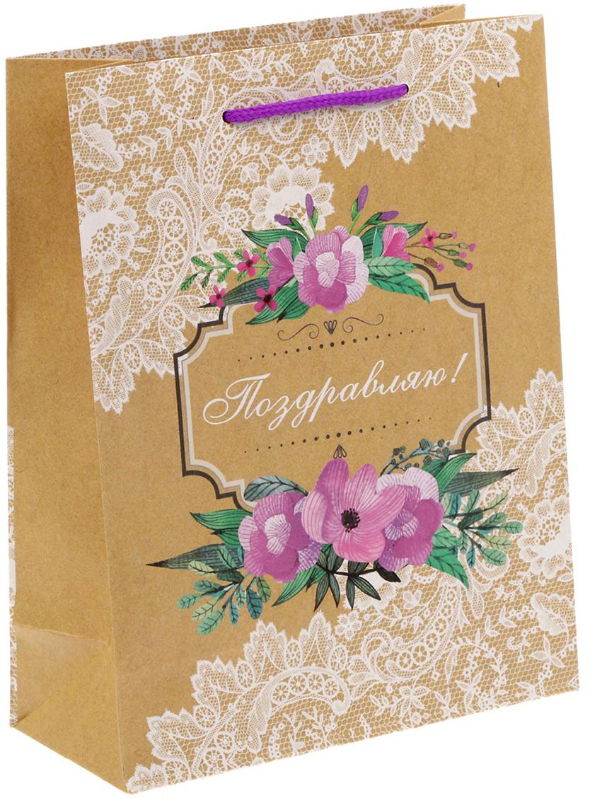 Пакет подарочный Дарите Счастье Кружево, цвет: мультиколор, 18 х 8 х 23 см. 14995261499526Любой подарок начинается с упаковки. Что может быть трогательнее и волшебнее, чем ритуал разворачивания полученного презента. И именно оригинальная, со вкусом выбранная упаковка выделит ваш подарок из массы других. Она продемонстрирует самые теплые чувства к виновнику торжества и создаст сказочную атмосферу праздника - это то, что вы искали.