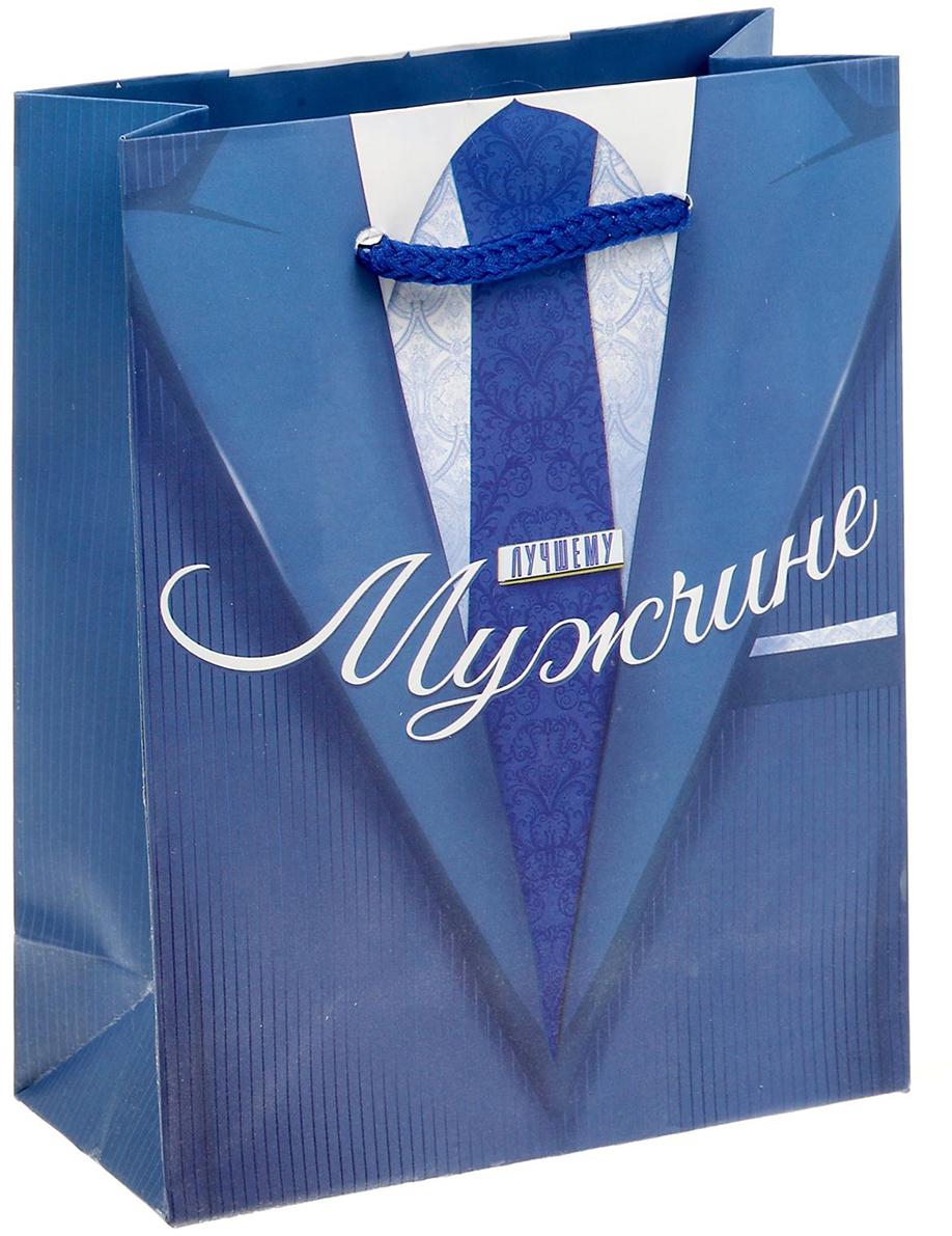 Пакет подарочный Дарите Счастье Лучшему мужчине, цвет: мультиколор, 11 х 5 х 14 см. 15029721502972Любой подарок начинается с упаковки. Что может быть трогательнее и волшебнее, чем ритуал разворачивания полученного презента. И именно оригинальная, со вкусом выбранная упаковка выделит ваш подарок из массы других. Она продемонстрирует самые теплые чувства к виновнику торжества и создаст сказочную атмосферу праздника - это то, что вы искали.
