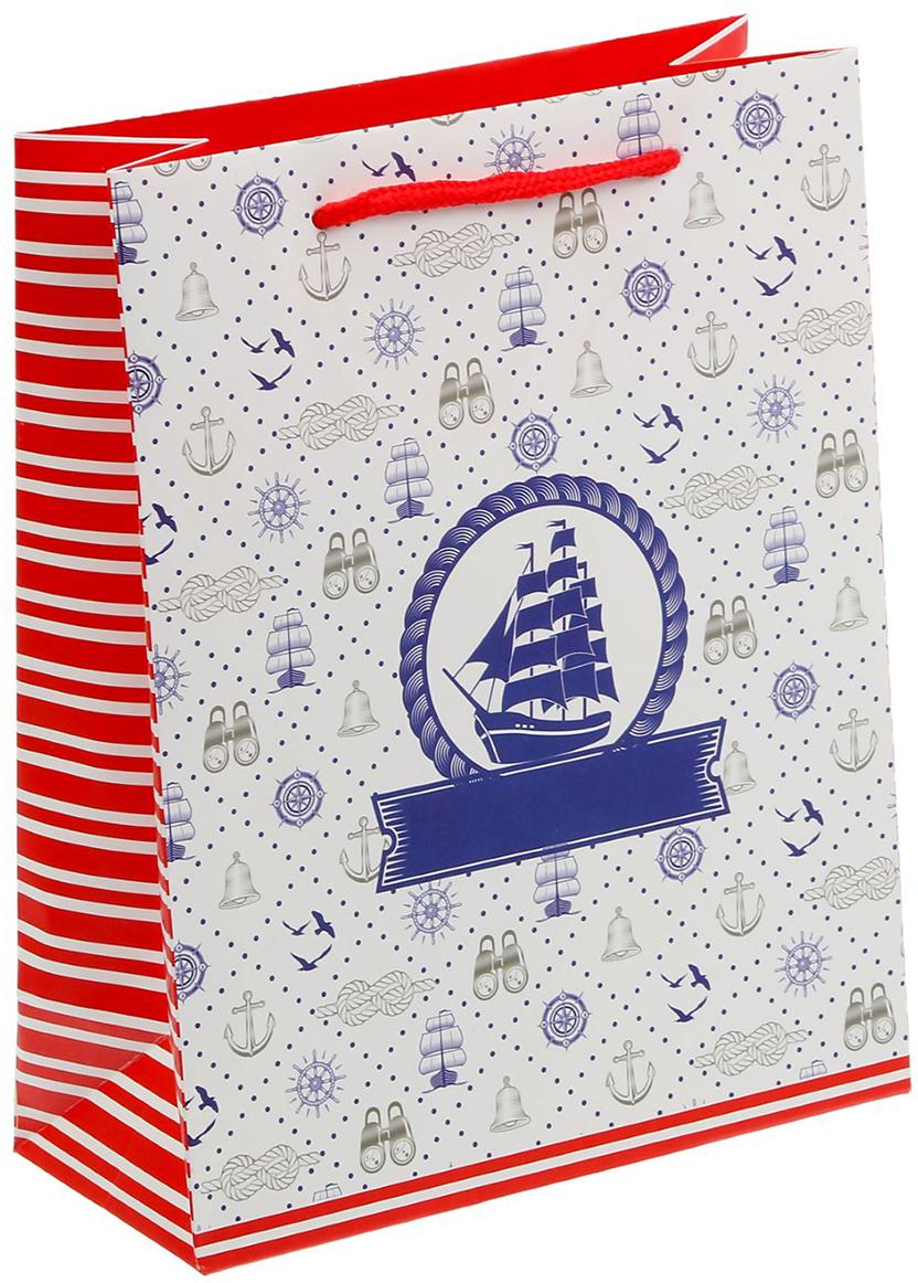 Пакет подарочный Дарите Счастье Морской, цвет: мультиколор, 18 х 8 х 23 см. 15029831502983Любой подарок начинается с упаковки. Что может быть трогательнее и волшебнее, чем ритуал разворачивания полученного презента. И именно оригинальная, со вкусом выбранная упаковка выделит ваш подарок из массы других. Она продемонстрирует самые теплые чувства к виновнику торжества и создаст сказочную атмосферу праздника - это то, что вы искали.