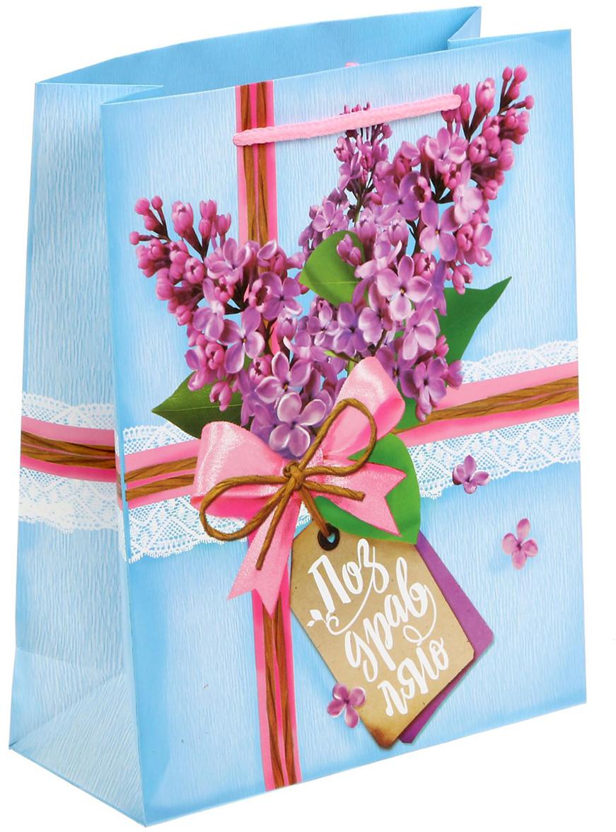 Пакет подарочный Дарите Счастье Букет сирени, цвет: мультиколор, 18 х 23 х 8 см. 15269511526951Любой подарок начинается с упаковки. Что может быть трогательнее и волшебнее, чем ритуал разворачивания полученного презента. И именно оригинальная, со вкусом выбранная упаковка выделит ваш подарок из массы других. Она продемонстрирует самые теплые чувства к виновнику торжества и создаст сказочную атмосферу праздника - это то, что вы искали.