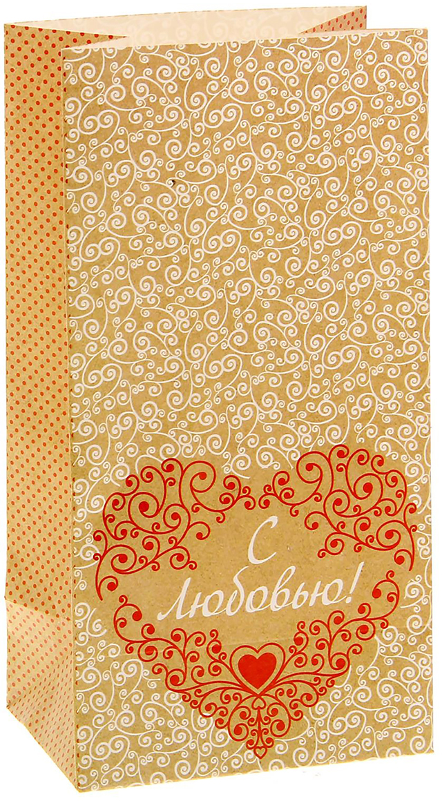 Пакет подарочный Дарите Счастье С любовью!, цвет: коричневый, 10 х 7 х 19,5 см. 15341541534154Невозможно представить нашу жизнь без праздников! Мы всегда ждем их и предвкушаем, обдумываем, как проведем памятный день, тщательно выбираем подарки и аксессуары, ведь именно они создают и поддерживают торжественный настрой - это отличный выбор, который привнесет атмосферу праздника в ваш дом!Любой подарок начинается с упаковки. Что может быть трогательнее и волшебнее, чем ритуал разворачивания полученного презента. И именно оригинальная, со вкусом выбранная упаковка выделит ваш подарок из массы других. Она продемонстрирует самые теплые чувства к виновнику торжества и создаст сказочную атмосферу праздника - это то, что вы искали.