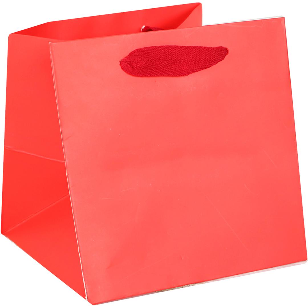Пакет подарочный, цвет: красный, 16 х 16 х 15,5 см. 15372591537259Любой подарок начинается с упаковки. Что может быть трогательнее и волшебнее, чем ритуал разворачивания полученного презента. И именно оригинальная, со вкусом выбранная упаковка выделит ваш подарок из массы других. Она продемонстрирует самые теплые чувства к виновнику торжества и создаст сказочную атмосферу праздника. Пакет ламинированный - это то, что вы искали.