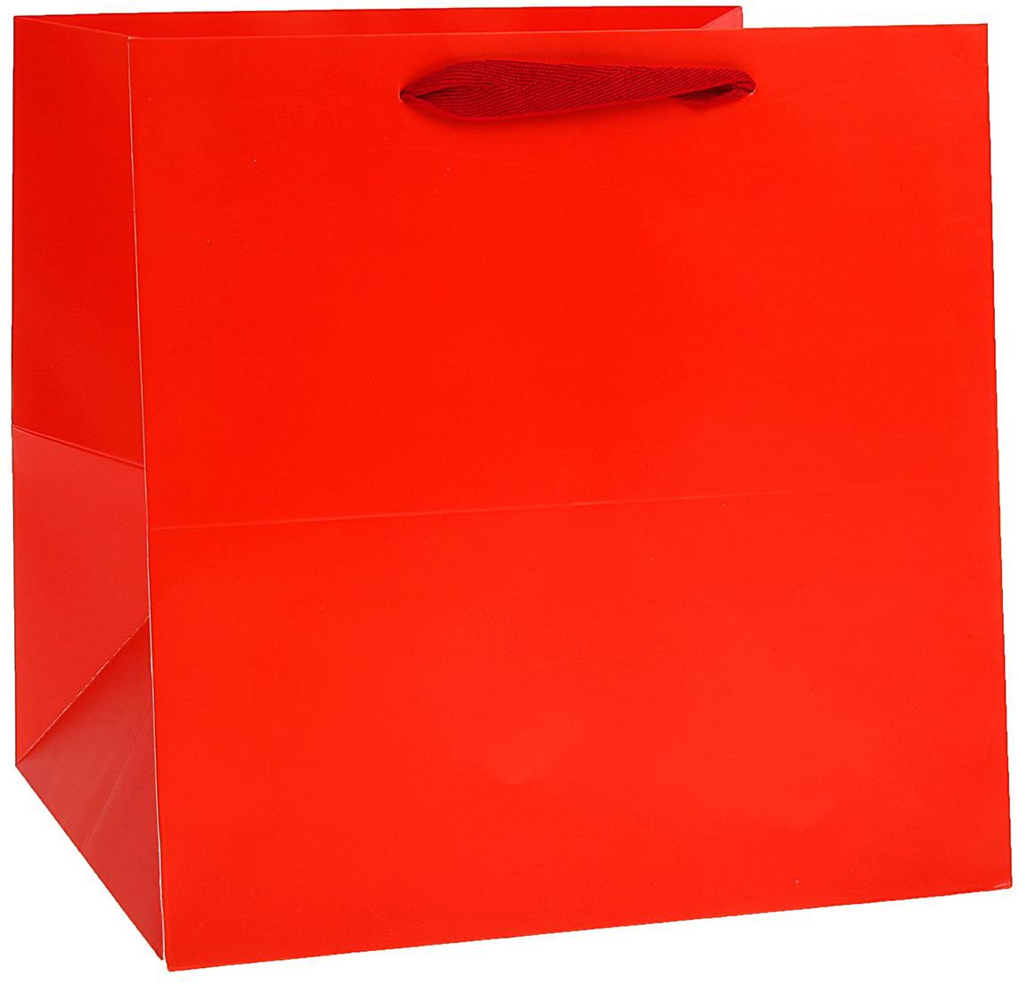 Пакет подарочный, цвет: красный, 30 х 30 х 30 см. 15372671537267Любой подарок начинается с упаковки. Что может быть трогательнее и волшебнее, чем ритуал разворачивания полученного презента. И именно оригинальная, со вкусом выбранная упаковка выделит ваш подарок из массы других. Она продемонстрирует самые теплые чувства к виновнику торжества и создаст сказочную атмосферу праздника. Пакет ламинированный - это то, что вы искали.