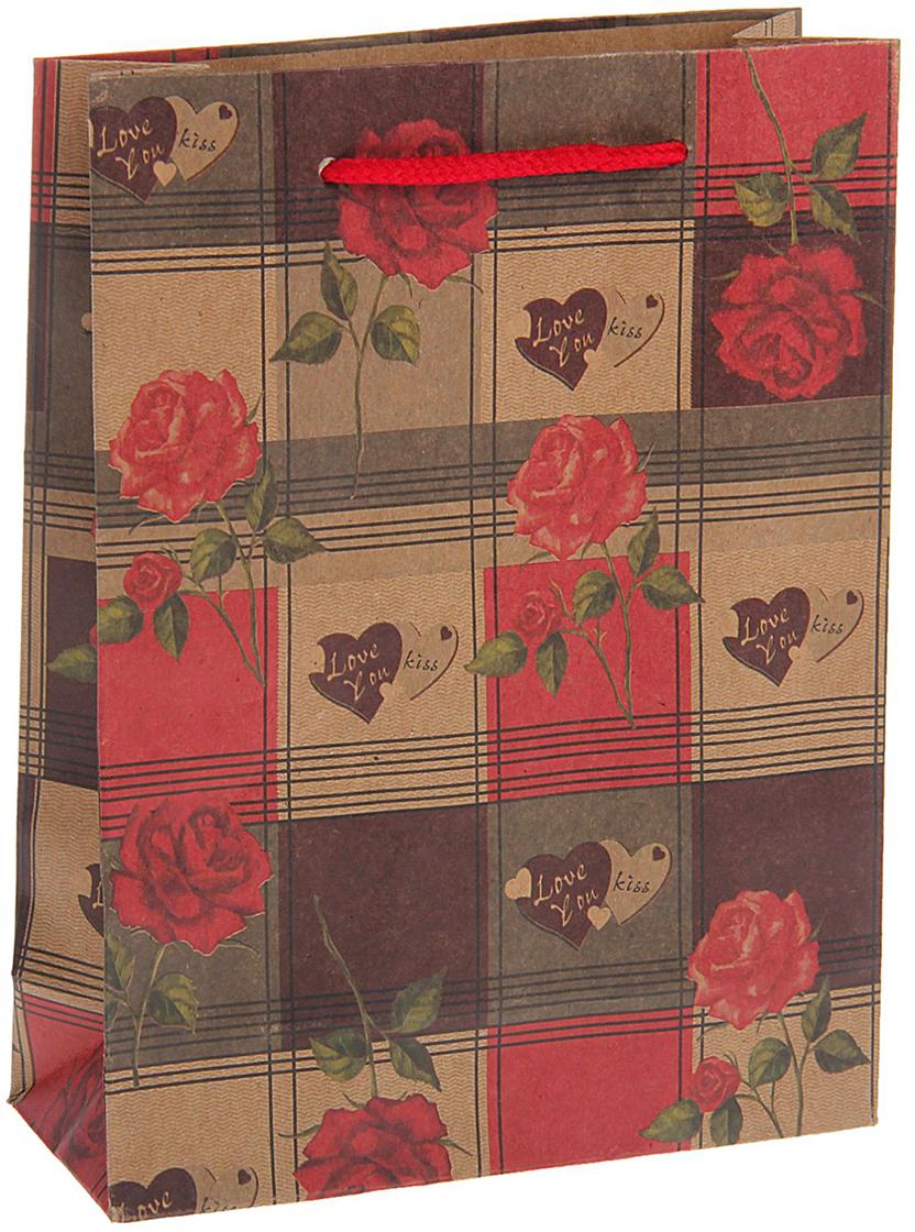 Пакет подарочный Розы с любовью, цвет: мультиколор, 15 х 20 х 6 см. 15377141537714Любой подарок начинается с упаковки. Что может быть трогательнее и волшебнее, чем ритуал разворачивания полученного презента. И именно оригинальная, со вкусом выбранная упаковка выделит ваш подарок из массы других. Она продемонстрирует самые теплые чувства к виновнику торжества и создаст сказочную атмосферу праздника. Пакет-крафт Розы с любовью - это то, что вы искали.