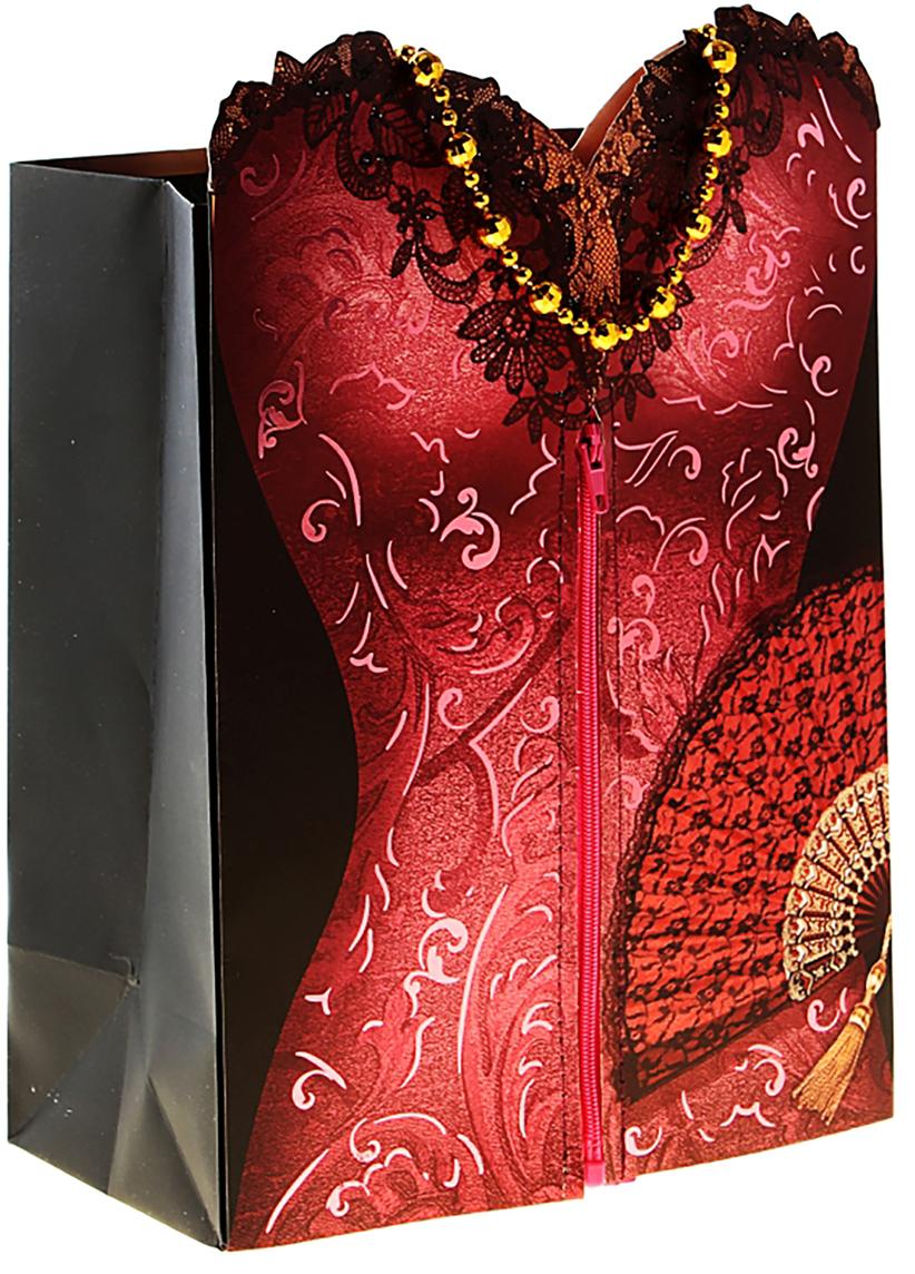 Пакет подарочный Дарите Счастье Платье, с открыткой, цвет: мультиколор, 29 х 37 см. 156730156730Представляем новую оригинальную форму подарочной упаковки!Фишка пакета - открытка с текстом. Она является частью самого изделия и крепится на застежку-липучку. Такая упаковка непременно поразит получателя. Будьте уверены, второго такого пакета не найти. Удивляйте не только подарком, но и его оформлением!