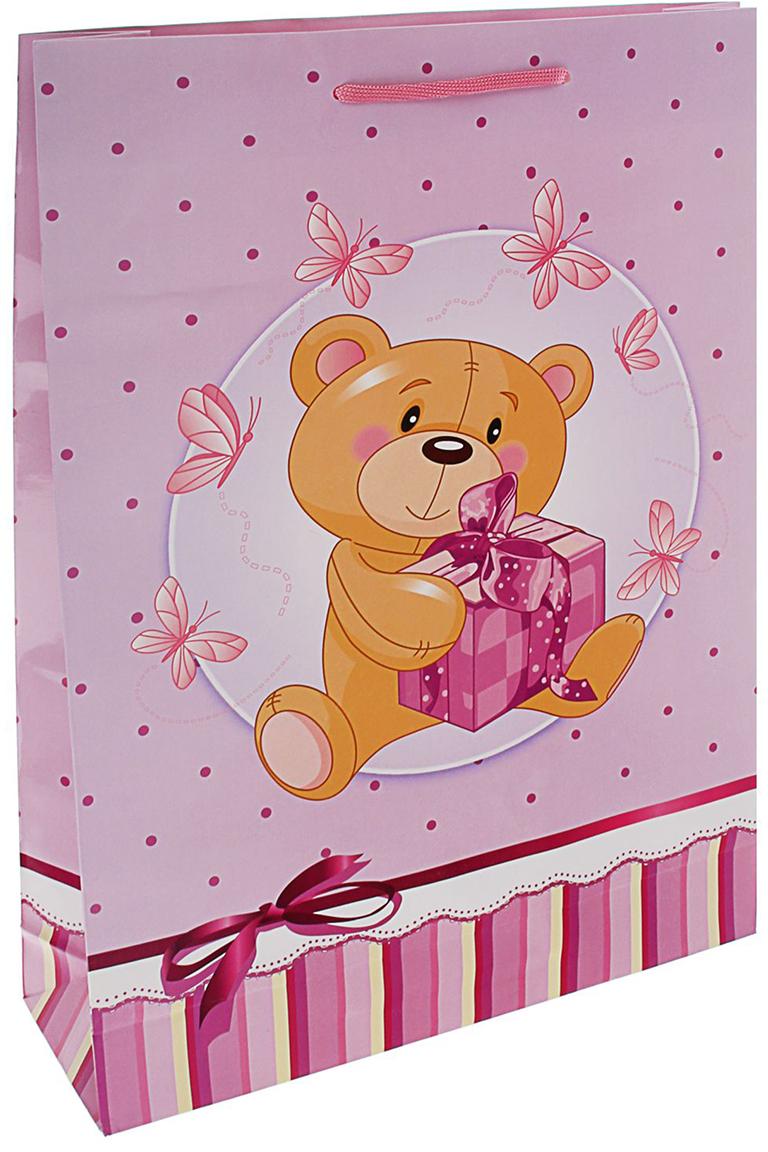 Пакет подарочный Пушистик, цвет: розовый, 40,5 х 24,8 х 9 см. 15946741594674Любой подарок начинается с упаковки. Что может быть трогательнее и волшебнее, чем ритуал разворачивания полученного презента. И именно оригинальная, со вкусом выбранная упаковка выделит ваш подарок из массы других. Она продемонстрирует самые теплые чувства к виновнику торжества и создаст сказочную атмосферу праздника. Пакет подарочный Пушистик розовый - это то, что вы искали.
