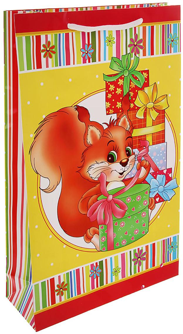 Пакет подарочный Сюрприз, цвет: мультиколор, 47 х 33 х 10 см. 15947161594716Любой подарок начинается с упаковки. Что может быть трогательнее и волшебнее, чем ритуал разворачивания полученного презента. И именно оригинальная, со вкусом выбранная упаковка выделит ваш подарок из массы других. Она продемонстрирует самые теплые чувства к виновнику торжества и создаст сказочную атмосферу праздника. Пакет подарочный Сюрприз - это то, что вы искали.