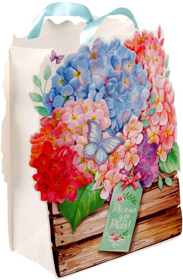 Пакет-открытка подарочный Дарите Счастье Завораживающие гортензии, цвет: мультиколор, 18 х 26 х 10 см. 16709051670905Невозможно представить нашу жизнь без праздников! Мы всегда ждем их и предвкушаем, обдумываем, как проведем памятный день, тщательно выбираем подарки и аксессуары, ведь именно они создают и поддерживают торжественный настрой - это отличный выбор, который привнесет атмосферу праздника в ваш дом!Любой подарок начинается с упаковки. Что может быть трогательнее и волшебнее, чем ритуал разворачивания полученного презента. И именно оригинальная, со вкусом выбранная упаковка выделит ваш подарок из массы других. Она продемонстрирует самые теплые чувства к виновнику торжества и создаст сказочную атмосферу праздника - это то, что вы искали.