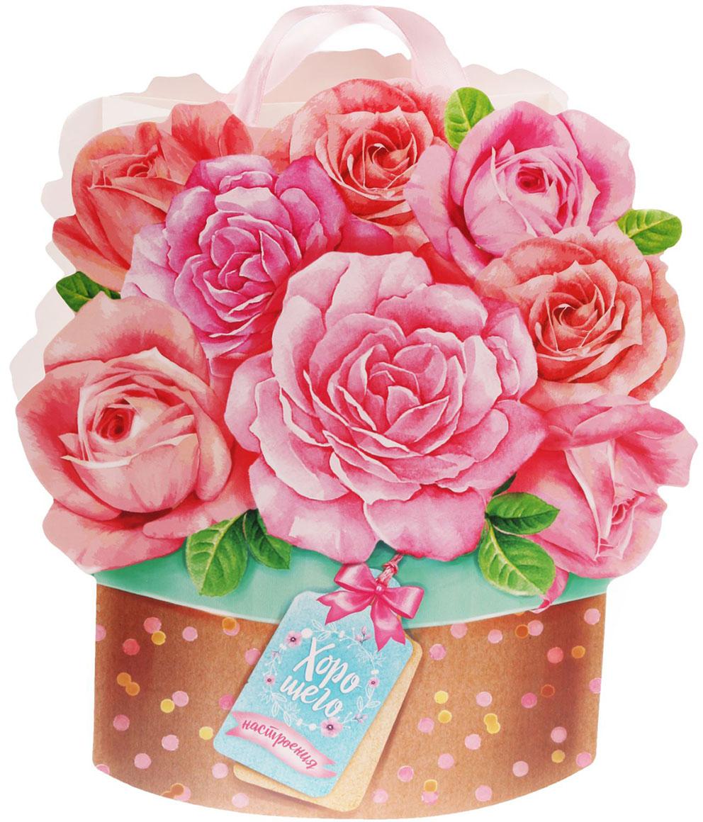 """Пакет-открытка подарочный Дарите Счастье """"Хорошего настроения!"""", цвет: мультиколор, 26 х 10 х 29 см. 1670908"""