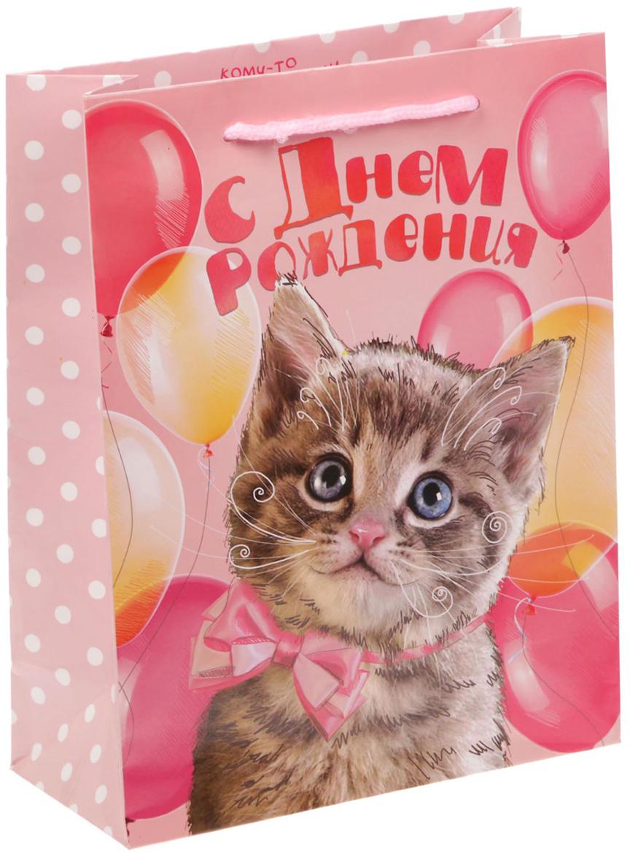 Пакет подарочный Дарите Счастье Ласковый котенок, цвет: мультиколор, 18 х 8 х 23 см. 17175411717541Любой подарок начинается с упаковки. Что может быть трогательнее и волшебнее, чем ритуал разворачивания полученного презента. И именно оригинальная, со вкусом выбранная упаковка выделит ваш подарок из массы других. Она продемонстрирует самые теплые чувства к виновнику торжества и создаст сказочную атмосферу праздника - это то, что вы искали.