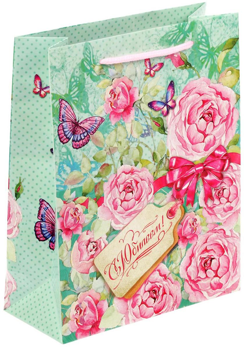 Пакет подарочный Дарите Счастье Нежные розы, цвет: мультиколор, 23 х 8 х 27 см. 17175841717584Любой подарок начинается с упаковки. Что может быть трогательнее и волшебнее, чем ритуал разворачивания полученного презента. И именно оригинальная, со вкусом выбранная упаковка выделит ваш подарок из массы других. Она продемонстрирует самые теплые чувства к виновнику торжества и создаст сказочную атмосферу праздника - это то, что вы искали.