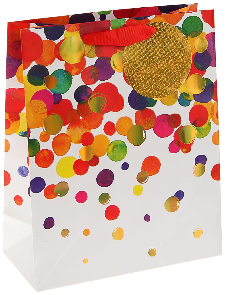 Пакет подарочный Арт и Дизайн Люкс. Легкость, цвет: мультиколор, 32 х 26 х 12 см. 17594141759414Любой подарок начинается с упаковки. Что может быть трогательнее и волшебнее, чем ритуал разворачивания полученного презента. И именно оригинальная, со вкусом выбранная упаковка выделит ваш подарок из массы других. Она продемонстрирует самые теплые чувства к виновнику торжества и создаст сказочную атмосферу праздника. Пакет подарочный Легкость люкс - это то, что вы искали.