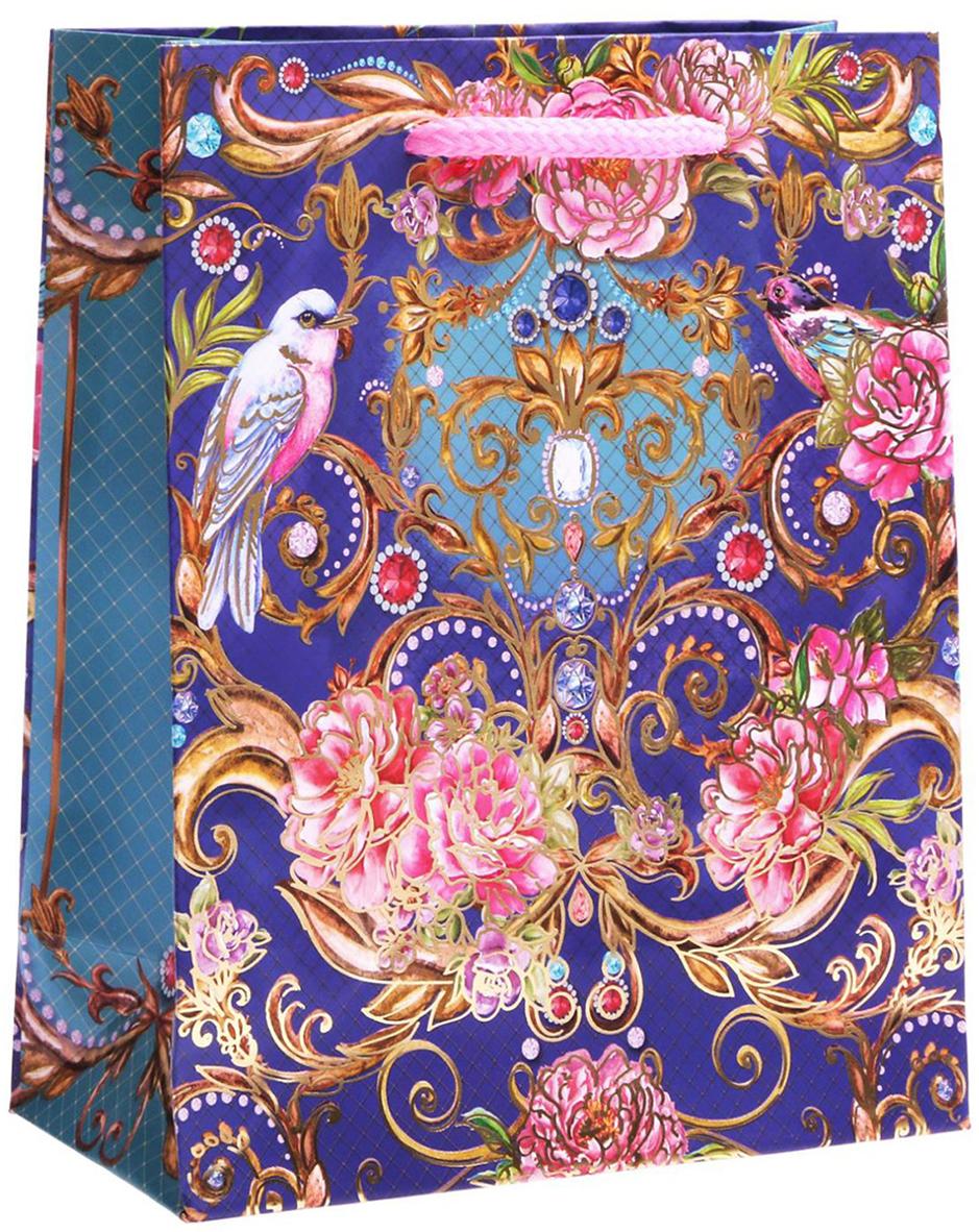 Пакет подарочный Дарите Счастье Королевский сад, цвет: мультиколор, 12 х 5,5 х 15 см. 17615531761553Любой подарок начинается с упаковки. Что может быть трогательнее и волшебнее, чем ритуал разворачивания полученного презента. И именно оригинальная, со вкусом выбранная упаковка выделит ваш подарок из массы других. Она продемонстрирует самые теплые чувства к виновнику торжества и создаст сказочную атмосферу праздника. Пакет-ламинат вертикальный с тиснением Королевский сад - это то, что вы искали.