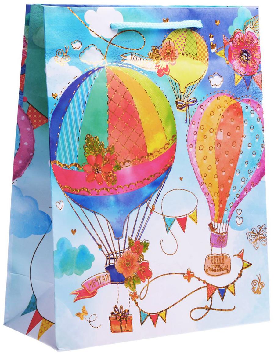 Пакет подарочный Дарите Счастье Необычное путешествие, голография, цвет: мультиколор, 18 х 8 х 23 см. 17615721761572Любой подарок начинается с упаковки. Что может быть трогательнее и волшебнее, чем ритуал разворачивания полученного презента. И именно оригинальная, со вкусом выбранная упаковка выделит ваш подарок из массы других. Она продемонстрирует самые теплые чувства к виновнику торжества и создаст сказочную атмосферу праздника. Пакет-ламинат вертикальный голография Необычное путешествие - это то, что вы искали.