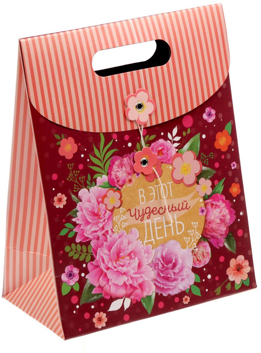 Пакет-конверт подарочный Дарите Счастье Для хорошего настроения, с фигурной застежкой, цвет: мультиколор, 18 х 10 х 23 см. 17999821799982Любой подарок начинается с упаковки. Что может быть трогательнее и волшебнее, чем ритуал разворачивания полученного презента. И именно оригинальная, со вкусом выбранная упаковка выделит ваш подарок из массы других. Она продемонстрирует самые теплые чувства к виновнику торжества и создаст сказочную атмосферу праздника - это то, что вы искали.