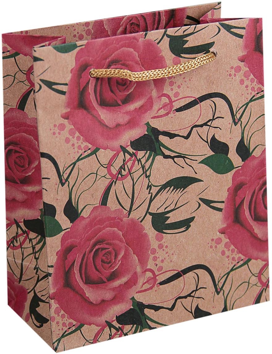 Пакет подарочный Розы, цвет: розовый, 6 х 11,5 х 14 см. 180557180557Крафт-пакет Розы из натуральной бумаги отличается высокой воздухопроницаемостью, имеет крепкое дно и крученые ручки.Также он свободно выдерживает относительно большой вес (до 10 кг), демонстрируя отличные показатели прочности, и не рвется острыми углами подарочной коробки. Практичность в использовании и разумная стоимость - все это характеризует удобную и абсолютно безопасную в применении упаковку. Модный сдержанный принт подойдет и для дорогой покупки из бутика, и для повседневных бытовых целей. Фирмы, упаковывающие свою продукцию таким образом, демонстрируют осведомленность в вопросах экологии, качества выпускаемых изделий и заботы о своих потребителях.