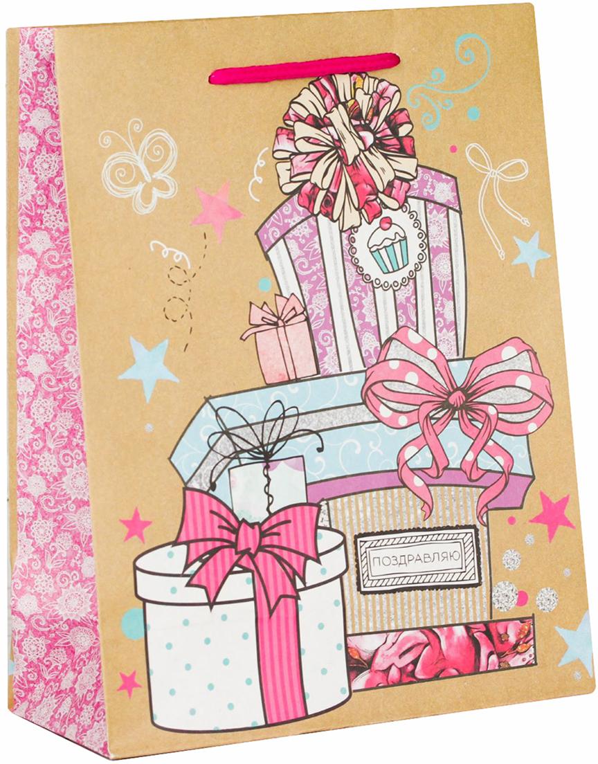 Пакет подарочный Дарите Счастье Долгожданные подарки, цвет: мультиколор, 18 х 8 х 23 см. 18303981830398Любой подарок начинается с упаковки. Что может быть трогательнее и волшебнее, чем ритуал разворачивания полученного презента. И именно оригинальная, со вкусом выбранная упаковка выделит ваш подарок из массы других. Она продемонстрирует самые теплые чувства к виновнику торжества и создаст сказочную атмосферу праздника - это то, что вы искали.